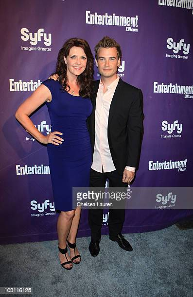 Actress Amanda Tapping and Robin Dunne arrive at the 2010 ComicCon Celebration Hosted By Entertainment Weekly and Syfy at Hotel Solamar on July 24...