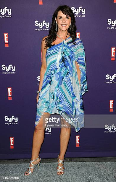 Actress Amanda Tapping arrives at SyFy/E ComicCon Party at Hotel Solamar on July 23 2011 in San Diego California