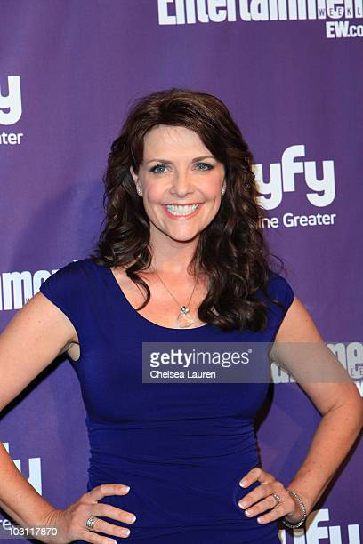 Actress Amanda Tapping arrives at the 2010 ComicCon Celebration Hosted By Entertainment Weekly and Syfy at Hotel Solamar on July 24 2010 in San Diego...