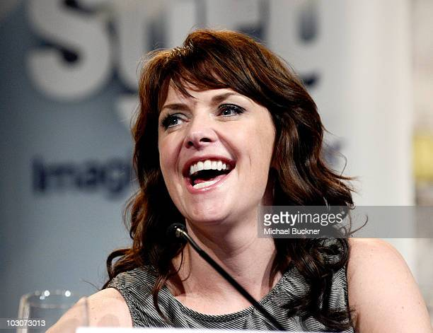 Actress Amanda Tapping attends 'Sanctuary' Panel and Press Conference at Hilton San Diego Bayfront Hotel during ComicCon 2010 on July 24 2010 in San...