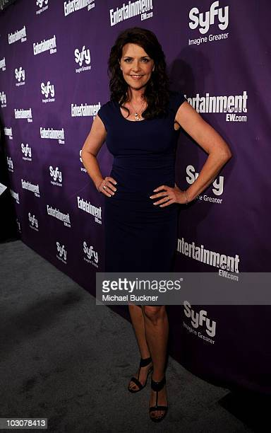 Actress Amanda Tapping attends the EW and SyFy party during ComicCon 2010 at Hotel Solamar on July 24 2010 in San Diego California