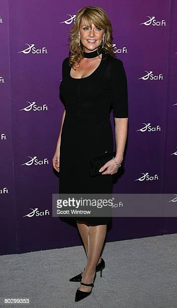 Actress Amanda Tapping attends the Sci Fi Channel 2008 Upfront Party at The Morgan Library Museum on March 18 2008 in New York City