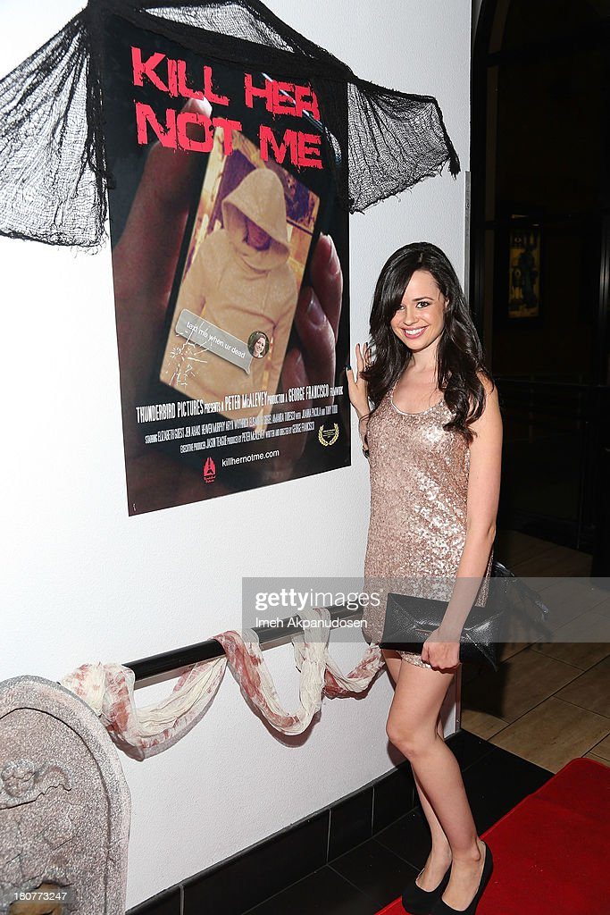 Actress Amanda Tudesco attends the premiere of 'Kill Her, Not Me' during the closing night of the Everybody Dies Film Festival on September 15, 2013 in Brea, California.