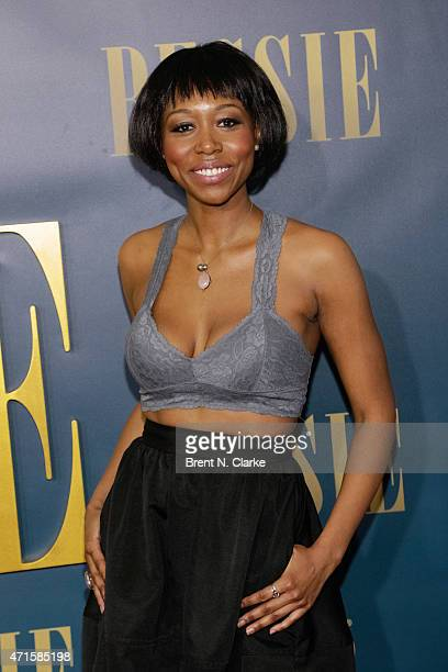 Actress Amanda Warren arrives for the New York screening of 'Bessie' held at The Museum of Modern Art on April 29 2015 in New York City