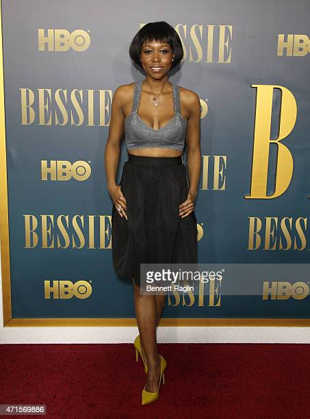 Actress Amanda Warren attends the 'Bessie' New York Screening at The Museum of Modern Art on April 29 2015 in New York City