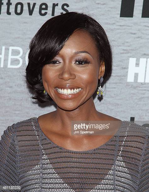 Actress Amanda Warren attends 'The Leftovers' premiere at NYU Skirball Center on June 23 2014 in New York City