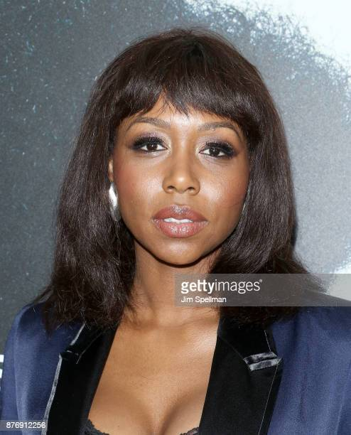 Actress Amanda Warren attends the'Roman J Israel Esquire' New York premiere at Henry R Luce Auditorium at Brookfield Place on November 20 2017 in New...