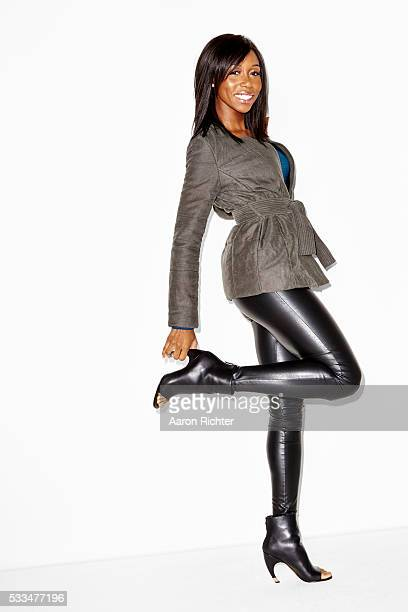 Actress Amanda Warren is photographed for Aritzia #FallForUs in 2014 in New York City PUBLISHED IMAGE