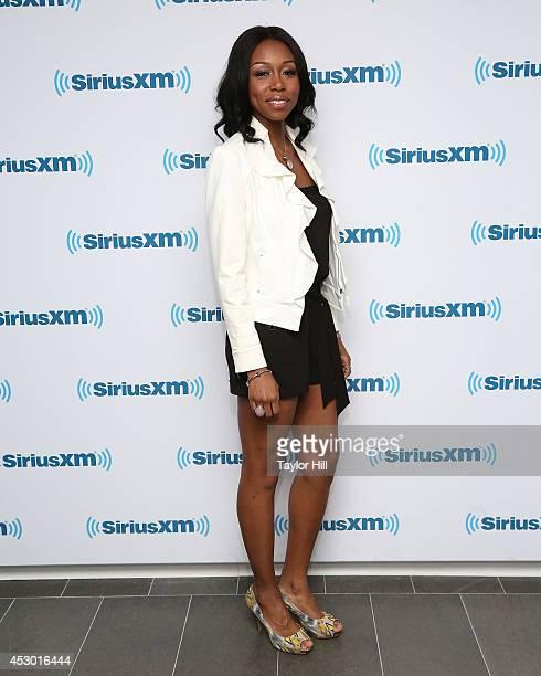 Actress Amanda Warren visits the SiriusXM Studios on July 31 2014 in New York City
