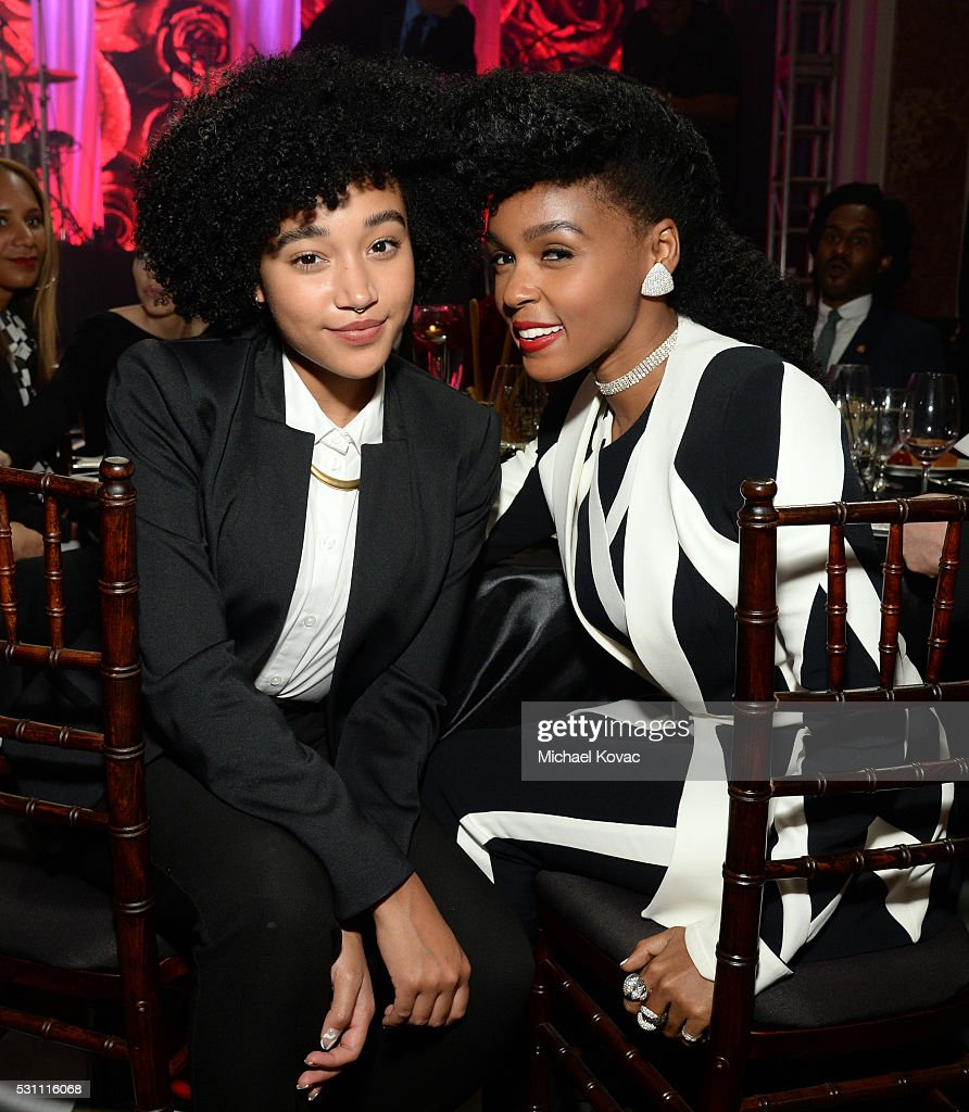 Actress Amandla Stenberg (L) and Honoree Janelle Monae attend the AltaMed Power Up, We Are The Future Gala at the Beverly Wilshire Four Seasons Hotel on May 12, 2016 in Beverly Hills, California.