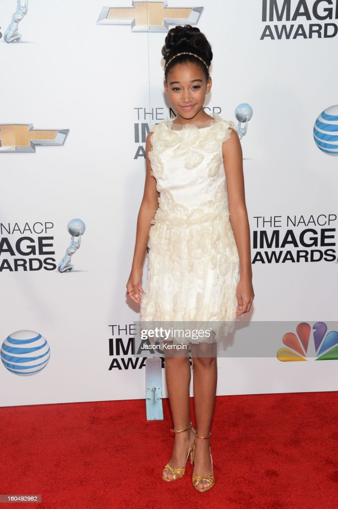 Actress Amandla Stenberg arrives at the 44th NAACP Image Awards held at The Shrine Auditorium on February 1, 2013 in Los Angeles, California.