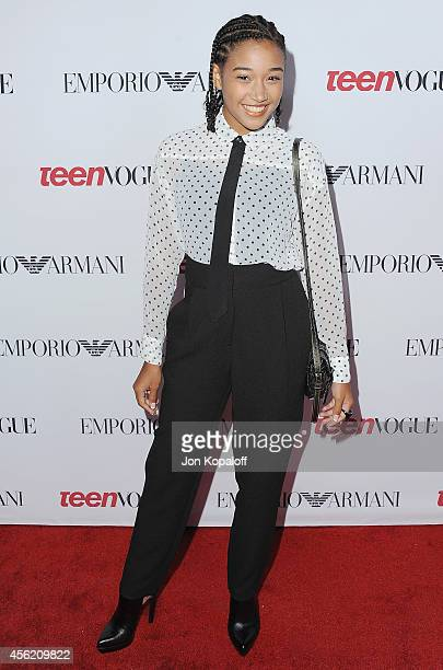 Actress Amandla Stenberg arrives at the Teen Vogue Young Hollywood Party on September 26 2014 in Los Angeles California