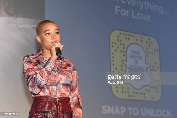 Actress Amandla Stenberg attends 'Everything Everything' Screening Brunch at SCADShow on April 23 2017 in Atlanta Georgia