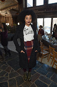 Actress Amandla Stenberg attends Glamour's Women Rewriting Hollywood Lunch at Sundance Hosted By Lena Dunham Jenni Konner and Cindi Leive on January...