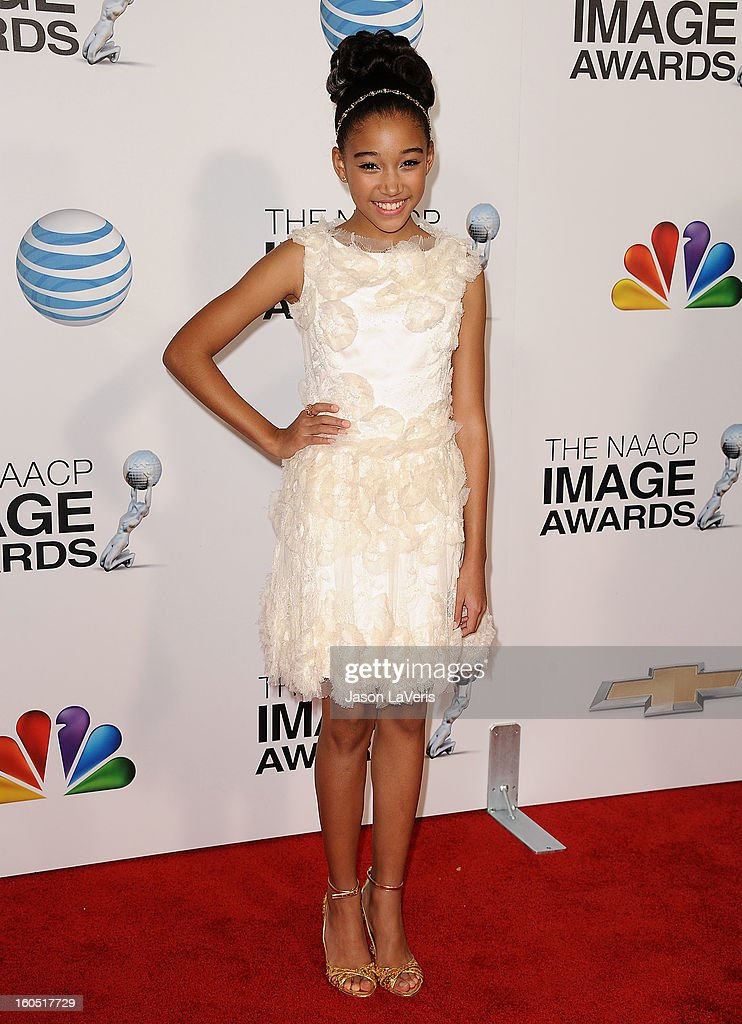 Actress Amandla Stenberg attends the 44th NAACP Image Awards at The Shrine Auditorium on February 1, 2013 in Los Angeles, California.