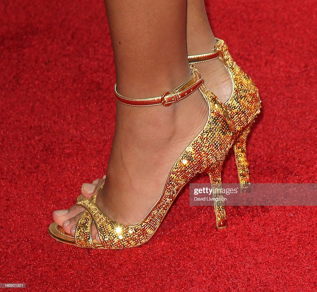 Actress Amandla Stenberg (shoe detail) attends the 44th NAACP Image Awards at the Shrine Auditorium on February 1, 2013 in Los Angeles, California.