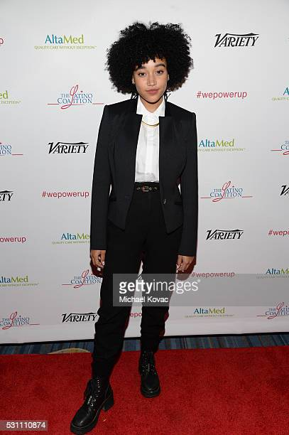 Actress Amandla Stenberg attends the AltaMed Power Up We Are The Future Gala at the Beverly Wilshire Four Seasons Hotel on May 12 2016 in Beverly...
