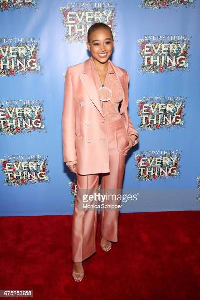 Actress Amandla Stenberg attends the 'Everything Everything' New York Screening at The Metrograph on April 30 2017 in New York City