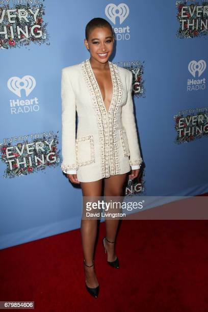 Actress Amandla Stenberg attends the screening of Warner Bros Pictures' 'Everything Everything' at the TCL Chinese Theatre on May 6 2017 in Hollywood...