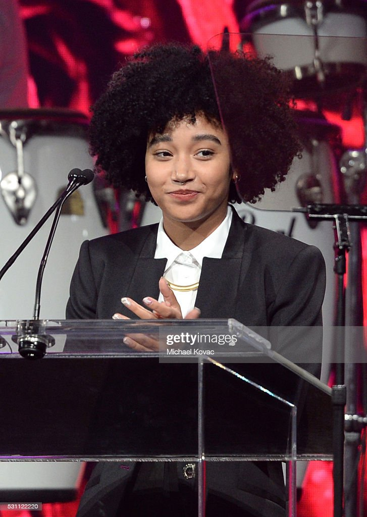 Actress Amandla Stenberg speaks onstage during the AltaMed Power Up, We Are The Future Gala at the Beverly Wilshire Four Seasons Hotel on May 12, 2016 in Beverly Hills, California.