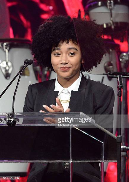 Actress Amandla Stenberg speaks onstage during the AltaMed Power Up We Are The Future Gala at the Beverly Wilshire Four Seasons Hotel on May 12 2016...