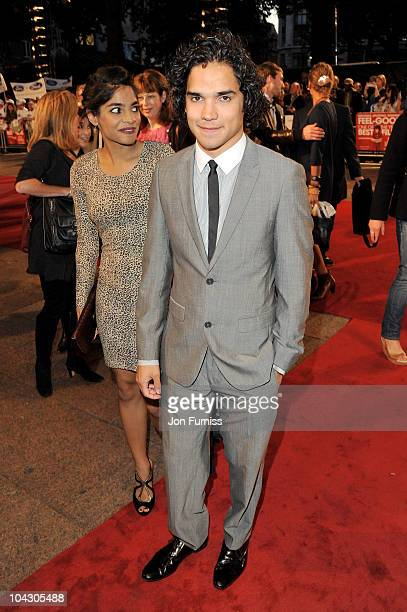Actress Amara Karan and actor Reece Ritchie attend the 'Made in Dagenham' world premiere at the Odeon Leicester Square on September 20 2010 in London...