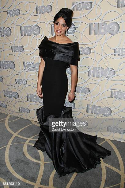 Actress Amara Karan arrives at HBO's Official Golden Globe Awards after party at the Circa 55 Restaurant on January 8 2017 in Los Angeles California