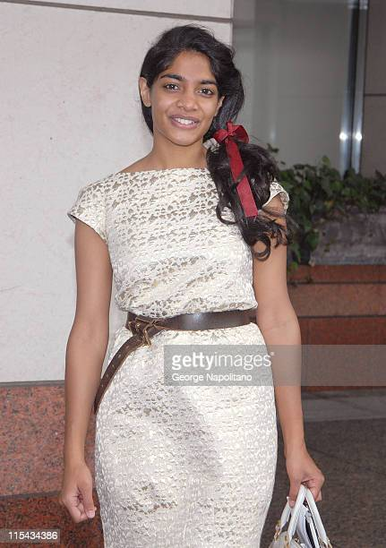 Actress Amara Karan arrives at the New York Film Festival press conference for 'The Darjeeling Limited' September 27 2007 at Lincoln Center in New...