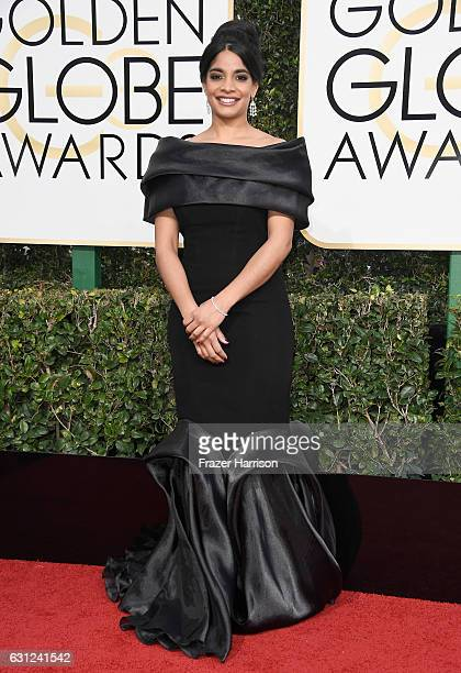 Actress Amara Karan attends the 74th Annual Golden Globe Awards at The Beverly Hilton Hotel on January 8 2017 in Beverly Hills California