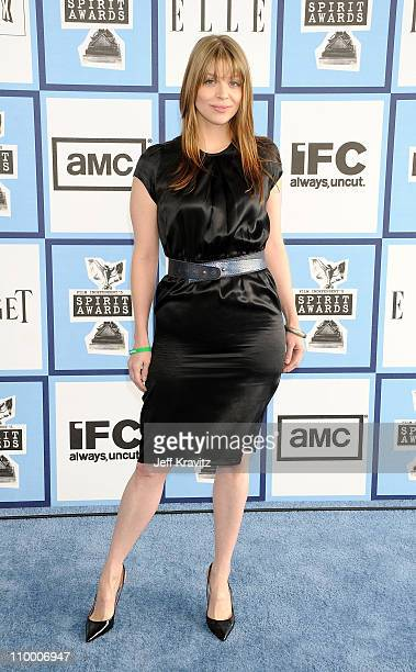 Actress Amber Benson arrives at the 2008 Independent Spirit Awards at the Santa Monica Pier on February 23 2008 in Santa Monica California