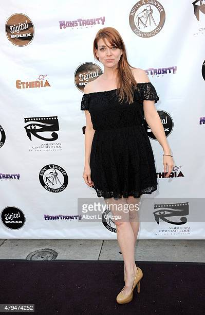 Actress Amber Benson arrives for the Etheria Film Night 2015 held at American Cinematheque's Egyptian Theatre on June 13 2015 in Hollywood California