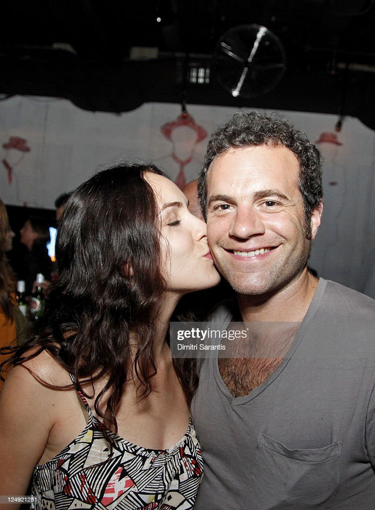 Actress Amber Goldfarb (L) and director Kaveh Nabatian attend 'City to City Cocktail Party' at F-Stop during the 2011 Toronto International Film Festival at F-Stop on September 13, 2011 in Toronto, Canada.