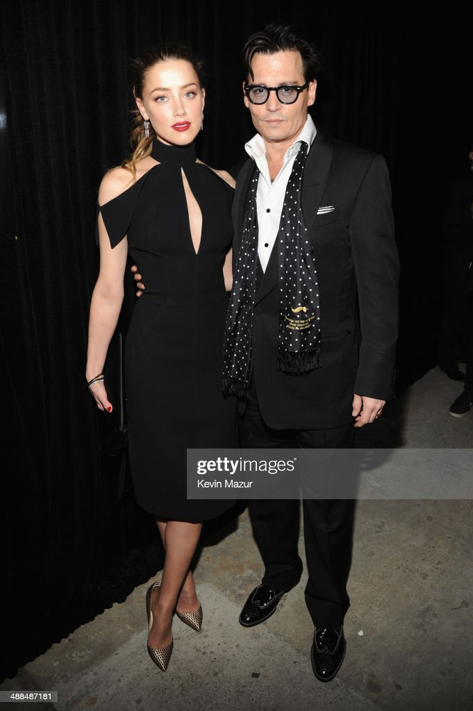 Actress Amber Heard and Actor Johnny Depp attend Spike TV's 'Don Rickles One Night Only' on May 6 2014 in New York City