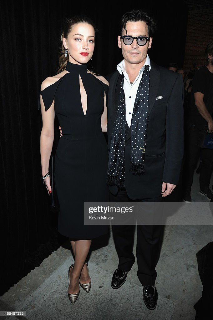 Actress Amber Heard and Actor Johnny Depp attend Spike TV's 'Don Rickles: One Night Only' on May 6, 2014 in New York City.