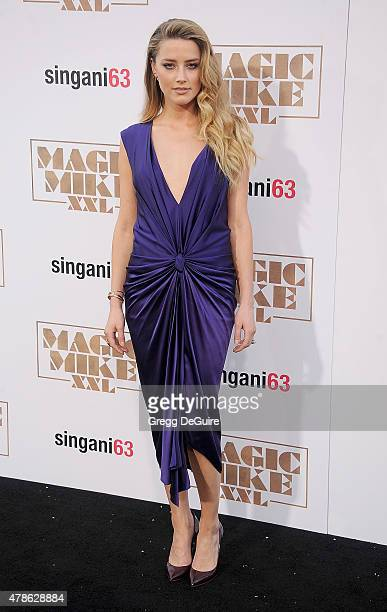 Actress Amber Heard arrives at the Los Angeles World Premiere of Warner Bros Pictures' 'Magic Mike XXL' at TCL Chinese Theatre IMAX on June 25 2015...