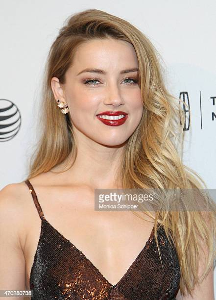 Actress Amber Heard attends 2015 Tribeca Film Festival World Premiere Narrative 'When I Live My Life Over Again' at SVA Theater 1 on April 18 2015 in...