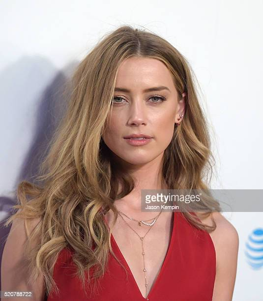 Actress Amber Heard attends A24/DIRECTV's 'The Adderall Diaires' Premiere at ArcLight Hollywood on April 12 2016 in Hollywood California