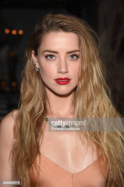 Actress Amber Heard attends the 2015 Tiffany Blue Book dinner on April 15 2015 in New York City