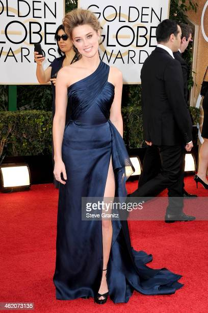 Actress Amber Heard attends the 71st Annual Golden Globe Awards held at The Beverly Hilton Hotel on January 12 2014 in Beverly Hills California