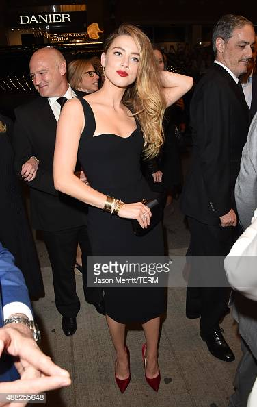 Actress Amber Heard attends the 'Black Mass' premiere during the 2015 Toronto International Film Festival at The Elgin on September 14 2015 in...