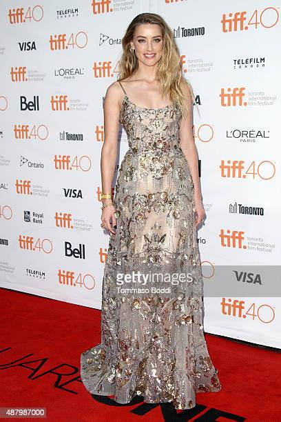 Actress Amber Heard attends 'The Danish Girl' premiere during the 2015 Toronto International Film Festival held at the Princess of Wales Theatre on...