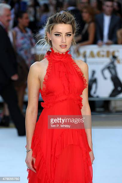 Actress Amber Heard attends the European Premiere of 'Magic Mike XXL' at Vue West End on June 30 2015 in London England