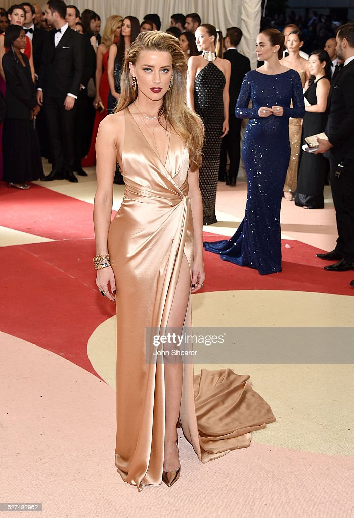 Actress Amber Heard attends the 'Manus x Machina Fashion In An Age Of Technology' Costume Institute Gala at Metropolitan Museum of Art on May 2 2016...