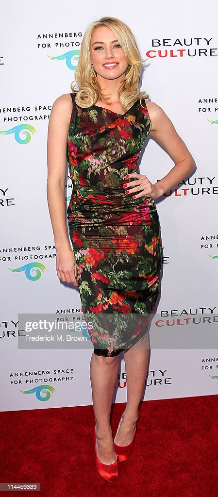 Actress Amber Heard attends the Opening Night of 'Beauty Culture' at The Annenberg Space For Photography on May 19, 2011 in Century City, California.