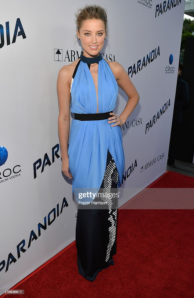 Actress Amber Heard attends the premiere of Relativity Media's 'Paranoia' at DGA Theater on August 8, 2013 in Los Angeles, California.