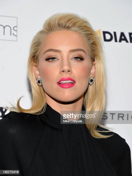 Actress Amber Heard attends the 'The Rum Diary' New York premiere at the Museum of Modern Art on October 25 2011 in New York City