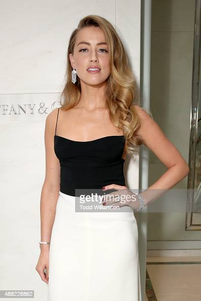 Actress Amber Heard attends the Tiffany Co cocktail party during the 2015 Toronto International Film Festival on September 14 2015 in Toronto Canada