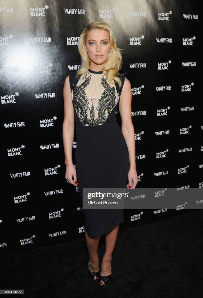 Actress <a gi-track='captionPersonalityLinkClicked' href=/galleries/search?phrase=Amber+Heard&family=editorial&specificpeople=2210577 ng-click='$event.stopPropagation()'>Amber Heard</a> attends the Vanity Fair Montblanc party celebrating The Collection Princesse Grace de Monaco held at Hotel Bel-Air Los Angeles on February 21, 2012 in Los Angeles, California.