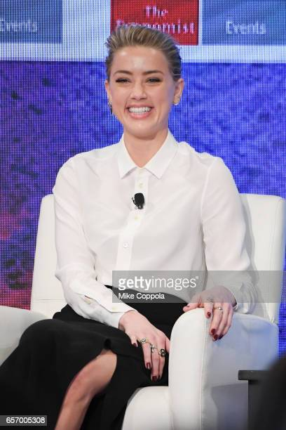 Actress Amber Heard speaks at the 2nd Annual Pride Prejudice Summit at 10 on The Park on March 23 2017 in New York City