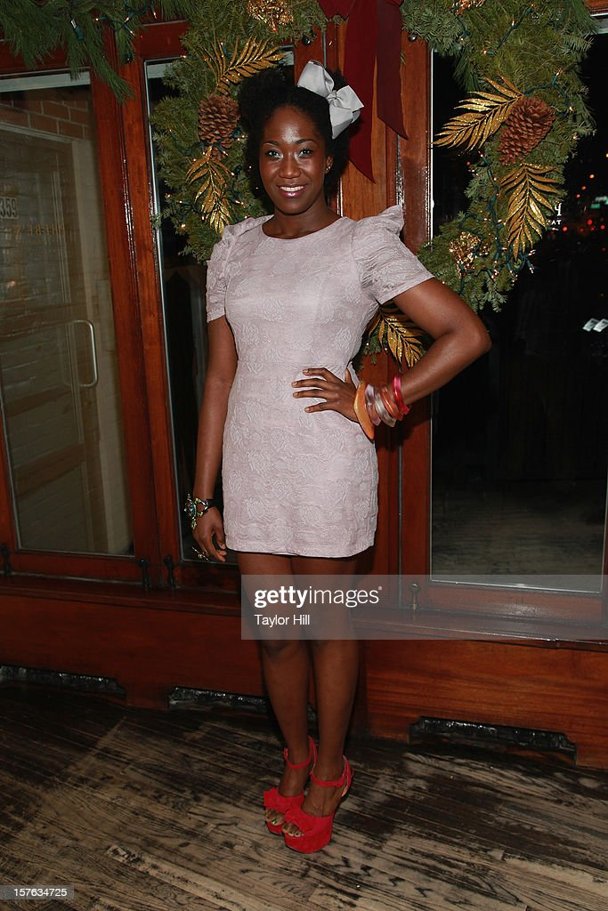 Actress Amber Iman attends the after party for the opening night of 'A Civil War Christmas' at Phebe's on December 4, 2012 in New York City.